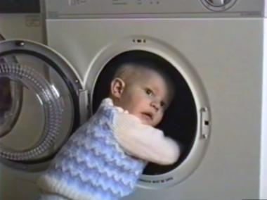 boy and tumble drier