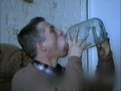 Large bottle in mouth