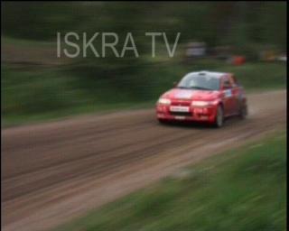 car drives off road at a rally