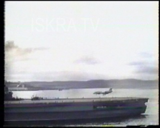 plane explodes on aircraft carrier, mute