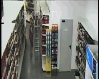 shop shelves fall on woman – cctv, mute