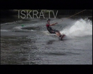 water skier crashes and is rescued
