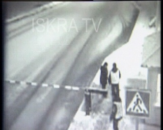 bus slides through barrier – cctv, mute