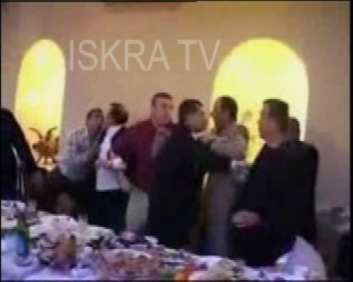 mass fight at wedding reception