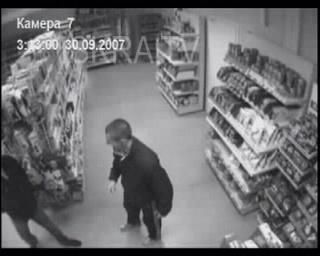 fight in a shop – no sound, cctv