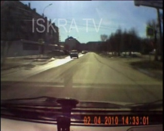 dashcam footage of car crash in front