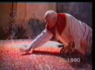burning coals from censer spill on rug at church service