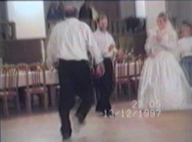 a dancing man falls
