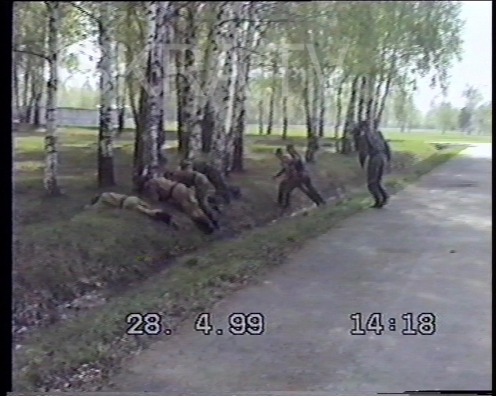 soldiers take cover in a ditch