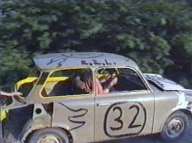 Trabant car crashing