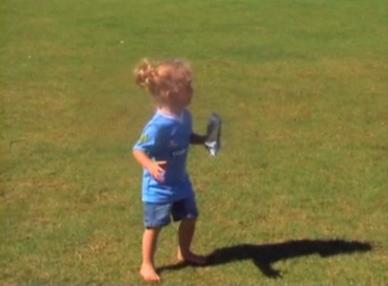 girl having a tantrum