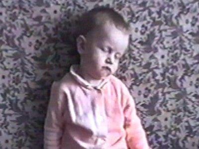 Baby falling asleep