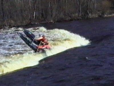 Canoe overturned