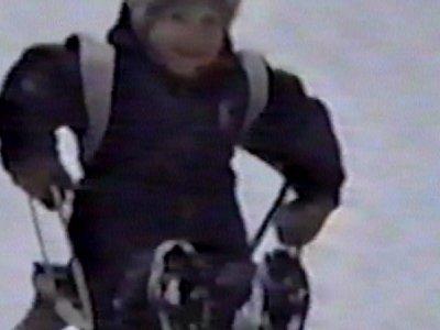 Small boy hits tree in sledge
